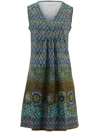 Ärmlös klänning från Green Cotton turkos