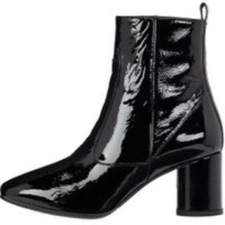 BIANCO Square Toe Ankle Boots Kvinder Sort