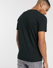 Abercrombie & Fitch pop icon neck t-shirt in black