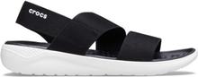 Crocs LiteRide Stretch Sandal Black White