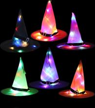 Halloween Hexe Hut Mit LED Lichter Party Dekoration Requisiten Für Wohnkultur Kind Erwachsene Party Kostüm Baum Hängende