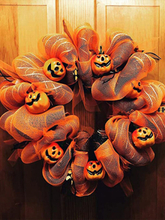 1 PC Horror Scary Kürbis Totenkopf Kranz Halloween Themen Leuchtende Hängende Requisiten Tor Girlande Anhänger