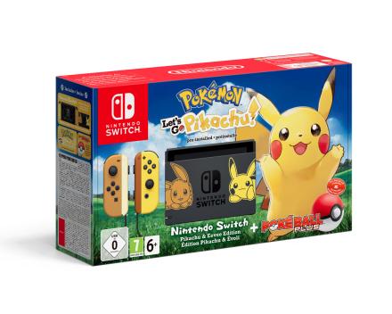 Switch + Pokémon: Let's Go, Pikachu! + Poké Ball Plus