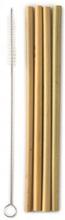 Sugrör i ekologisk bambu 4-pack med borste