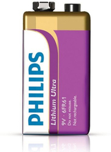 Lithium Batteri 9V - Philips