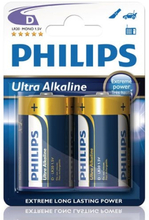 Philips Ultra Alkaline D LR20 2-pack