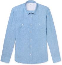 Mr P. - Linen Shirt - Blue - L,Mr P. - Linen Shirt - Blue - XS,Mr P. - Linen Shirt - Blue - XL,Mr P. - Linen Shirt - Blue - M,Mr P. - Linen Shirt - Blue - S,Mr P. - Linen Shirt - Blue - XXL