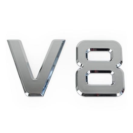 Emblem V8, Självhäftande