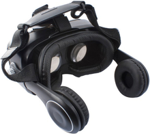 Virtual reality-briller med høretelefoner Sort