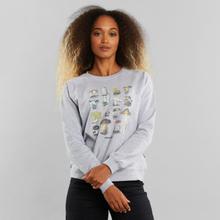 Sweatshirt Ystad Raglan Vintage Mushroom Grey Melange