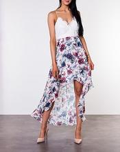 Floreale Highlow Dress Blue/White/Floral