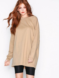 NLY Trend Through The Hood Sweat Sweatshirts Beige