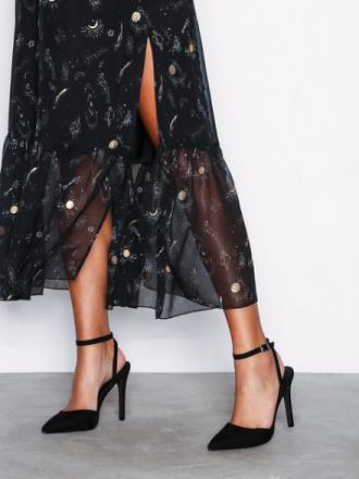 High Heel - Svart NLY Shoes Pointy Strap Heel Sandal