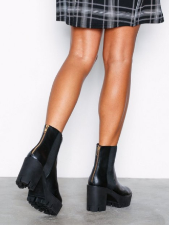 NLY Shoes Chunky Zip Boot