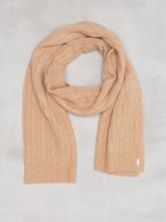 Polo Ralph Lauren Cable Wool Scarf Halsdukar & Scarves Camel