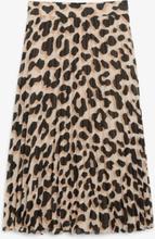 Pleated midi skirt - Beige