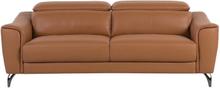 Sohva nahkainen ruskea NARWIK