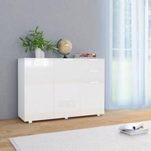 vidaXL Senkki korkeakiilto valkoinen 107x35x76 cm