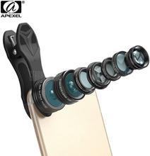 Apexel APL - DG7 7 in 1 Clip External Phone Camera Lens Kit