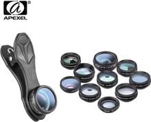 APEXEL APL - DG10 10 in 1 External Phone Camera Lens Suit
