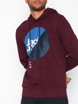 Jack & Jones Jcologan Sweat Hood Puserot Wine
