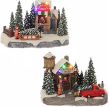 Julebod juletrær - juleby på batteri