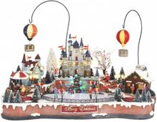 Isbane, slott og luftballong - juleby Luvllle