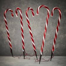 Julelysende Candy Cane til oppkjørselen