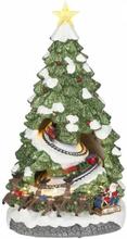 Juletre med tog - juleby Luville