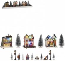 Sett med julefigurer - juleby Luville