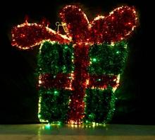 Julegave med sløyfe 90x95 cm