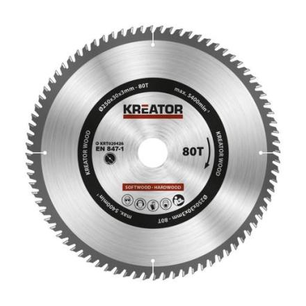 Kreator Sagblad for sirkelsag 80 tenner - Ø250 mm