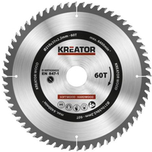 Kreator Sagblad for sirkelsag 60 tenner - Ø210 mm