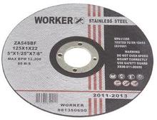 Worker Kappeskive Inox Ø125mm tykkelse 1,0mm - til rustfri stål