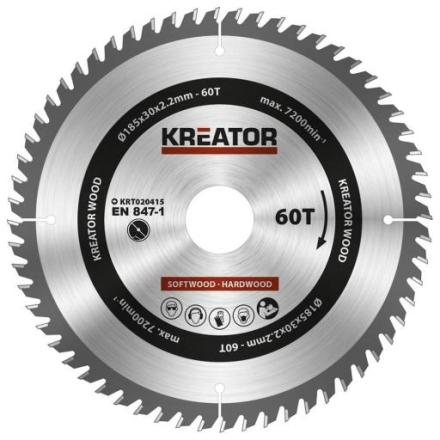 Kreator Sagblad for sirkelsag 60 tenner - Ø185 mm