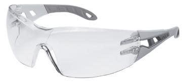 Sikkerhetsbrille Uvex Pheos, grå med klar linse