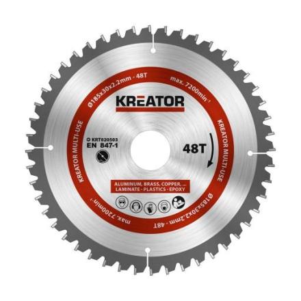 Kreator Sagblad for sirkelsag universal 48 tenner - Ø185 mm