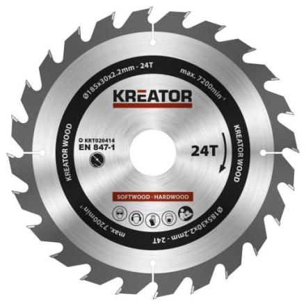 Kreator Sagblad for sirkelsag 24 tenner - Ø185 mm