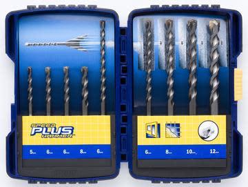 Irwin Speedhammer Plus Borsett (SDS+) 5-12 mm - 9 deler