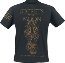 Secrets Of The Moon - Into The Temple Of The Night -T-skjorte - svart