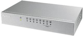 Kontakt til desktop ZyXEL ES-108AV3-EU0101F 200 Mbps LAN RJ45 x 8 Hvid