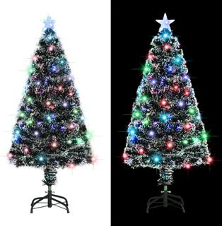 vidaXL kunstigt juletræ med fod/LED 120 cm 135 grene