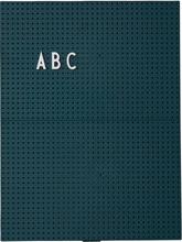 Design Letters - Design Letters Opslagstavle A4, Mørkegrøn