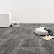 vidaXL Självhäftande PVC-golvplankor 5,11 m² svart med mönster