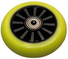 Rask 100mm PU hjul Lime