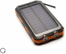 Solcellebatteri med 8000 mAh powerbank