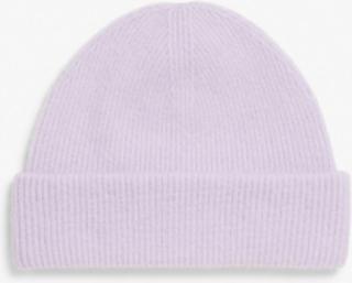 Wool blend beanie - Purple