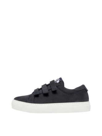 J.LINDEBERG Velcro Solid Leather Sneakers Women Blue