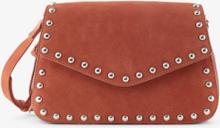 PIECES Studded Leather Crossbody Bag Kvinna Röd