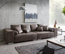 DELIFE XXl-bank Marbeya 285x115 cm donkerbruin met 10 kussens big sofa